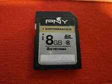 Carte memoire PNY performance SDHC Class 8 SD memory CARD 8GB 8-GB Nintendo DSi