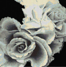 Grey Roses Counted Cross Stitch Kit