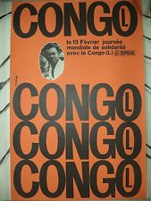 OSPAAAL Political Poster Congo International Day of Solidarity 1967 FRENCH ART
