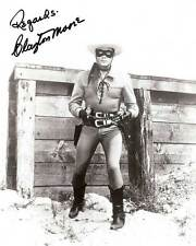 Clayton Moore Signed Reprint The Lone Ranger 8x10 Photo 007