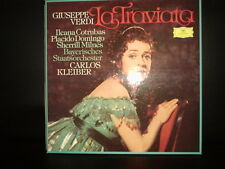 CARLOS KLEIBER VERDI LA TRAVIATA DOMINGO DGG 2LP BOX