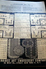 VTG 1950s STAMPED LINEN KITS MAIL ORDER CATALOG Marribee Art Co