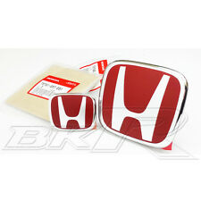 Honda Civic 01-03 JDM EP EP3 Type R 2001 -  2003 front rear H RED Badge Emblem