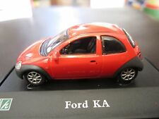 Cararama 1:72 Ford KA Hatch Back Diecast Model w/ Display Case
