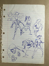 Daniel Johnston Original Artwork COA notebook figure study