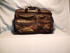 Classic Vintage Leather Men's Black Briefcase Laptop Bag