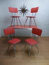 RETRO DANISH MODERN MID-CENTURY '50'S DINER CAFE' DINING TABLE & CHAIRS 5pce