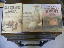 Larry McMurtry,# 1,2 & 3 of BERRYBENDER series,SIGNED,1sts 2002 HCDJ, SIN KILLER