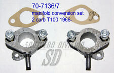 Triumph daytona 2 carb manifolds set 70-7136/7 E7136 E7137 conversion twin carb