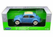 WELLY 1:18 1950 VOLKSWAGEN BEETLE (MJ EXCLUSIVE) Diecast Model Car 18040W-BLUE