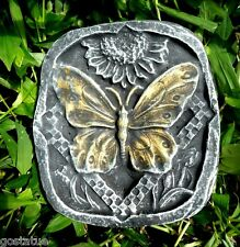Plaster,concrete,single butterfly sm stepping stone plastic mold