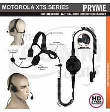 Pryme® Tactical Bone Conduction SWAT Headset Boom Mic Motorola XTS Series Radios