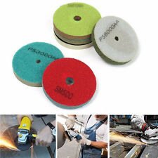 100mm Diamond Wet Polishing Pad Wheel 500/1000/2000/3000/6000/10000 Grit