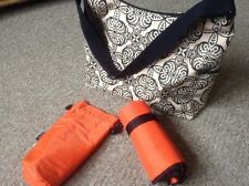 Oi Oi Beige and Black Messenger Baby Changing Bag. Excellent Condition