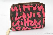 Auth Louis Vuitton Monogram Graffiti Zippy Coin Purse Pink M93707 LV 24378