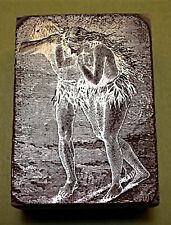 """A FINELY ENGRAVED """"ADAM & EVE"""" PRINTING BLOCK"""