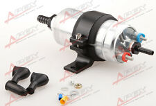 "External Fuel Pump 044 for Bosch+Billet Bracket black+1/2"" Inlet 3/8""Outlet Barb"