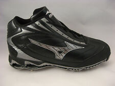 Baseball Cleats 16 Mizuno Black 9-Spike Pro Limited Mid G4 Metal Spike Pro Style