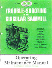 Trouble-Shooting in the Circular Sawmill, by R. Hoe & Co., 1957 - reprint