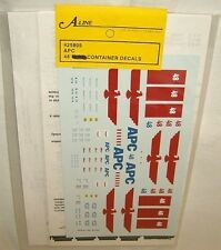 A-line HO scale APC SHIPPING 48' CONTAINER DECALS