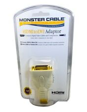 Monster Cable HDMI to DVI Video Adapter - Male HDMI to Female DVI Adapter