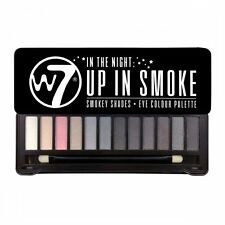 W7 In The Night 'Up In Smoke' Eyeshadow Palette 15.6g, NEW Eye Makeup + Free P&P