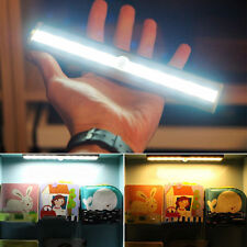 10 LED Light Bar Battery Operated Wireless Motion Sensor Detector Night Light