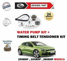 FOR VW SCIROCCO 2.0 R 2009--  NEW TIMING CAM BELT TENSIONER KIT + WATER PUMP SET