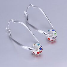 925 Sterling Silver Hoop Pierced Earrings L9