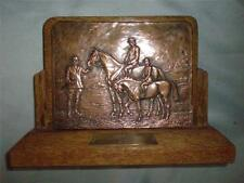 Copper Hammered Advertising Trophy.ROYAL WELSH SHOW.  Presented by HARRY HALL.