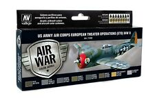 Vallejo Model Air Acrylic Paint Set - WWII US Army Air Corps Colours (ETOUSA)