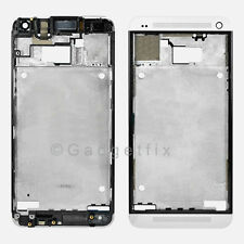 USA OEM HTC One M7 Faceplate Front Frame Housing Middle Mid Plate Bezel Silver