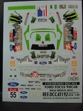 DECALS 1/43 FORD FOCUS WRC08  #55 RALLYE DE MEXICO 2010 - COLORADO  43192