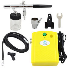 OPHIR Dual-Action Airbrush  Compressor Kit  for Temporary Tattoo Cake Decoration