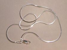 925-er ECHT SILBER Schlangenkette vierkant Diamantiert 50cm Sterlingsilber EDEL