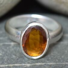 Hessonite Garnet Ring For Men Natural 5CT Sterling Silver Birthstone in ALL SIZE