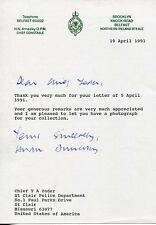 H.N. HUGH ANNESLEY IRISH POLICE. CHIEF CONSTABLE ACPT SIGNED LETTER AUTOGRAPH