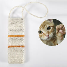 Portable Cat Kitten Fun Scratching Board Post Mat Toy with Sisal Rope Hanging