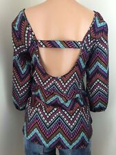 Tribal Print NEW NWT Charlotte Russe Size Small Aztec Tunic Top Boho