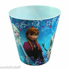 "NEW DISNEY FROZEN LARGE BIN WITH FULL WRAP DECAL 9"" TALL x 8-1/2"" ELSA ANNA OLAF"