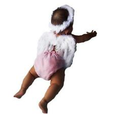New Baby Toddler Angel Feather Wings Cupid Fairy Photo Photography Props Halo Y