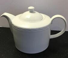 "5"" Crate and Barrel Palazzo White Porcelain Teapot - Made in Portugal 5 CUPS"