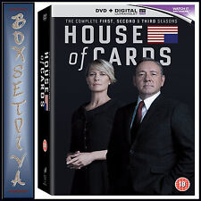 HOUSE OF CARDS - COMPLETE SEASONS 1 2 & 3  **BRAND NEW DVD BOXSET***