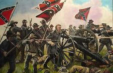 DAVID ALDUS ORIGINAL Pickett's Charge Battle of Gettysburg Hex Lee OIL PAINTING