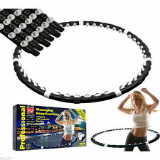 HULA HOOP FITNESS EXERCISE MASSAGE 42 MAGNETIC BALLS LOSE WEIGHT WORKOUT HOLA