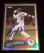 LOGAN MORRISON 2011 TOPPS CHROME Autographed Signed AUTO Baseball Card 163