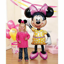 "Disney Minnie Mouse w Yellow Dress Giant Life-Size Air Walker 52"" Foil Balloon"