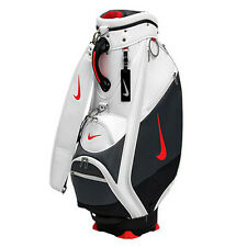 NIKE GOLF SLINGSHOT CADDY BAG WITH RAIN COVER FROM JAPAN WHITE NEW SIZE 9.0