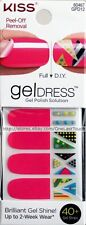 KISS 40 Nail Gel Dress FAIRY DUST Polish Solution Strips PINK Full+French 1/2
