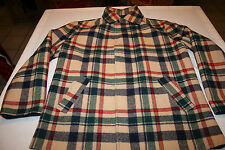 VTG Mens Pendleton Wool Reversible Zip Up Plaid Lumberjack Coat Jacket Large